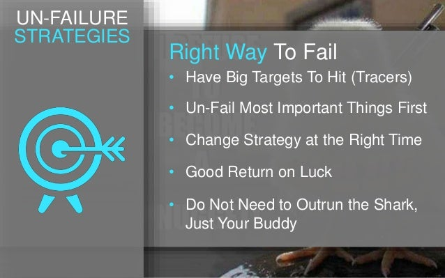• Have Big Targets To Hit (Tracers) Right Way To Fail • Un-Fail Most Important Things First • Change Strategy at the Right...