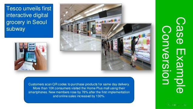 Section 1. Project Overview CaseExample Conversion Customers scan QR codes to purchase products for same day delivery. Mor...