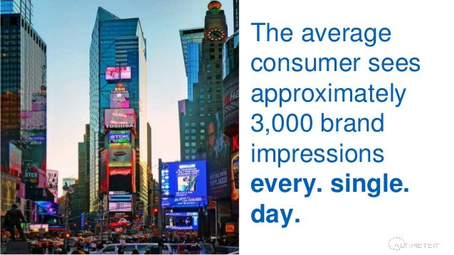 9 The average consumer sees c. 3,000 brand impressions a day. Media is and will continue to converge as brands are challen...