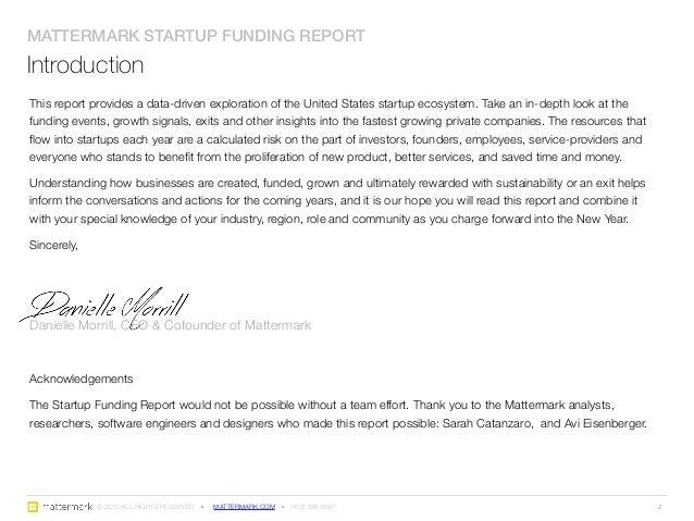 Startup Funding Report: Historical Analysis 2005 - 2014 Slide 2