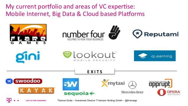 Startup galore   how VCs think in a unicorn world - T-Venture Thomas Grota Slide 2
