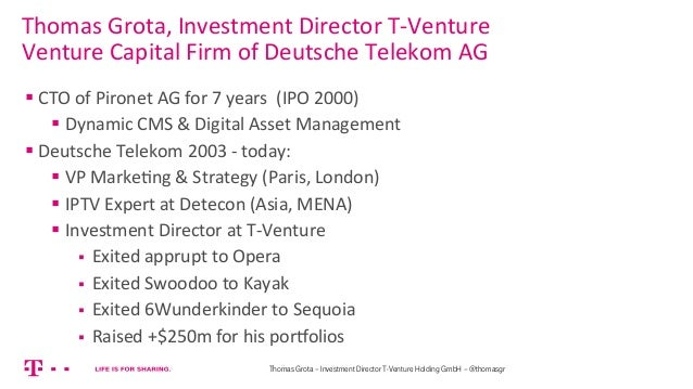 Startup galore   the best way of financing ramp up for founders ... a view from a venture capitalist Slide 2