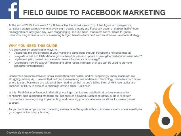 startup guide to facebook marketing rh slideshare net Facebook Users 2017 Facebook Profile