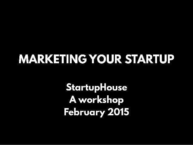 Marketing Your Startup Slide 1