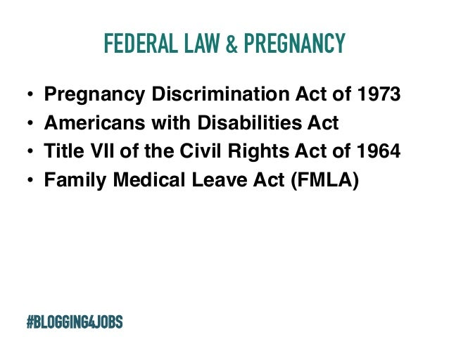 pregnancy discrimination act in uae The pregnancy discrimination act of 1978 (pda) was the first federal law to explicitly protect pregnant workers the pda amended title vii of the civil rights act of 1964 to.
