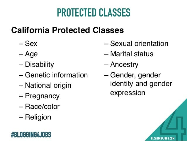 sexual orientation as a protected class It is necessary that we are clear that seeking to make sexual orientation a  protected class are seeking a special exemption that is not afforded to.
