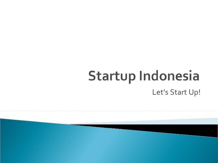 Let's Start Up!