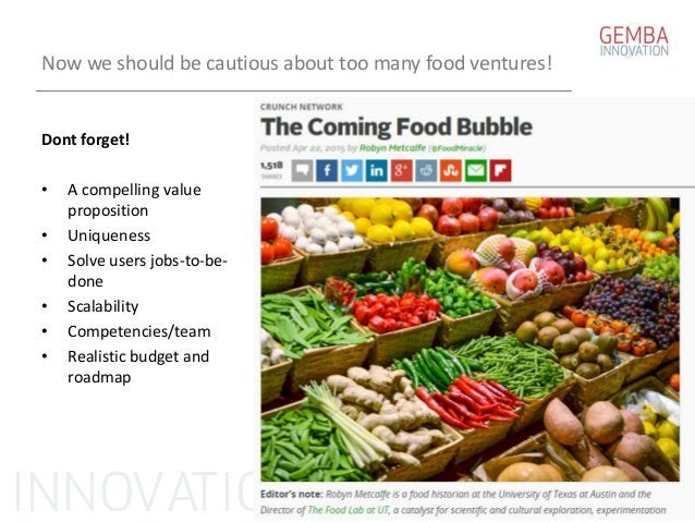 Startup in food Tomas Vedsmand GEMBA Innovation 2015