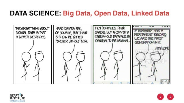 @MicahHerstand DATA SCIENCE: Big Data, Open Data, Linked Data