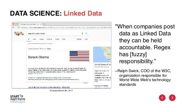 """@MicahHerstand DATA SCIENCE: Linked Data """"When companies post data as Linked Data they can be held accountable. Regex has ..."""