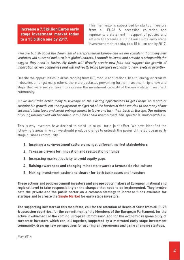 Startup Investors Manifesto Slide 2