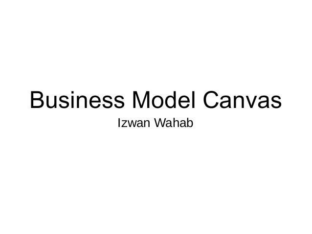 Business Model Canvas Izwan Wahab