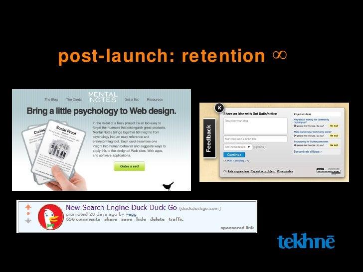 post-launch: retention  ∞