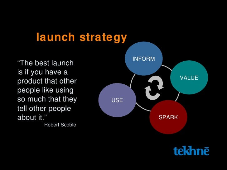 """launch strategy """" The best launch  is if you have a  product that other  people like using  so much that they tell other p..."""