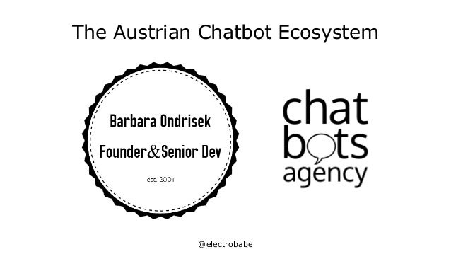 @electrobabe The Austrian Chatbot Ecosystem
