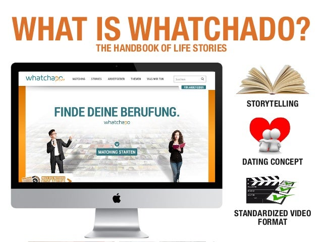 STORYTELLING DATING CONCEPT STANDARDIZED VIDEO FORMAT WHAT IS WHATCHADO?THE HANDBOOK OF LIFE STORIES