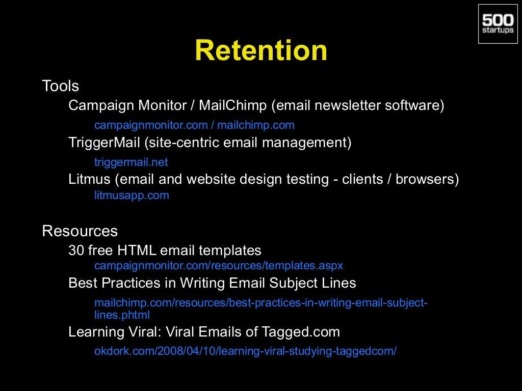Retention Tools Campaign Monitor /
