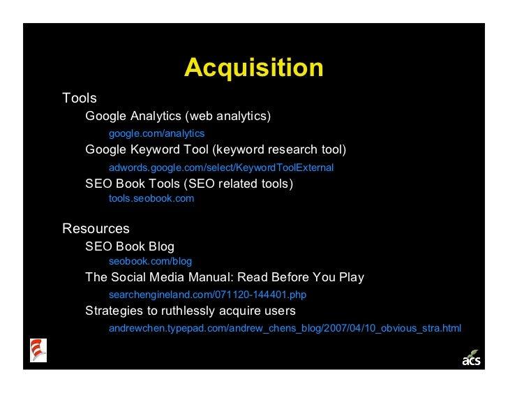 Startup Metrics 101: a Product & Marketing Workshop Slide 16