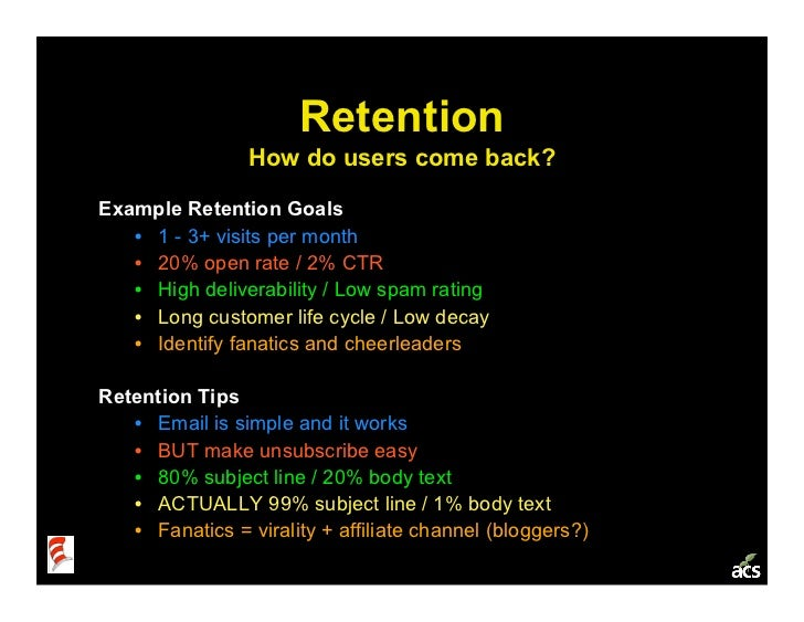 Startup Metrics 101: a Product & Marketing Workshop Slide 23
