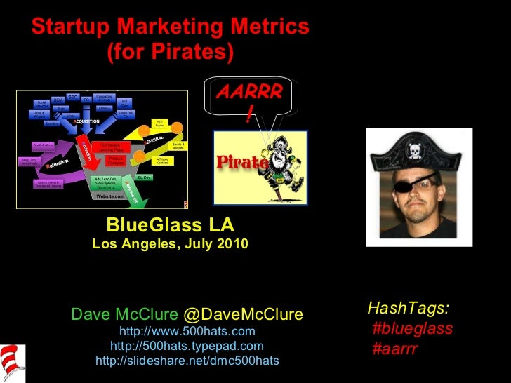 Startup Marketing Metrics (for Pirates) BlueGlass LA Los Angeles, July 2010 Dave McClure  @DaveMcClure http://www.500hats....