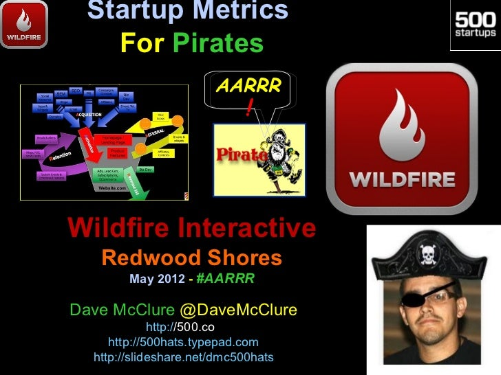 Startup Metrics   For Pirates                       AARRR                            !Wildfire Interactive   Redwood Shore...