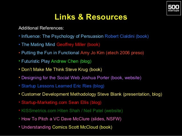 Links & ResourcesAdditional References:• Influence: The Psychology of Persuasion Robert Cialdini (book)• The Mating Mind G...