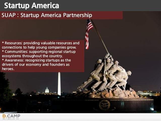 Startup America SUAP : Startup America Partnership * Resources: providing valuable resources and connections to help young...