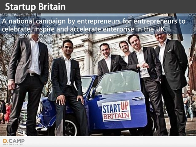 Startup Britain A national campaign by entrepreneurs for entrepreneurs to celebrate, inspire and accelerate enterprise in ...
