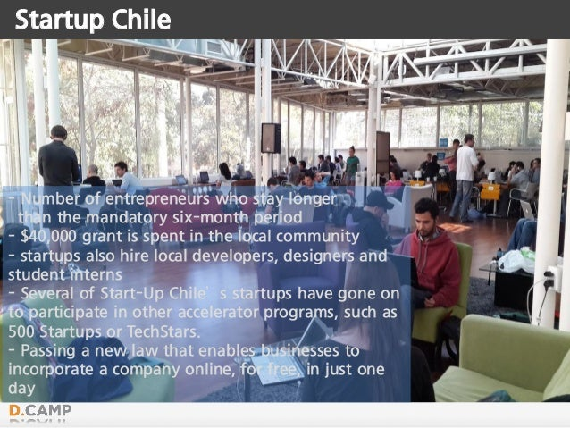 Startup Chile - Number of entrepreneurs who stay longer than the mandatory six-month period - $40,000 grant is spent in th...
