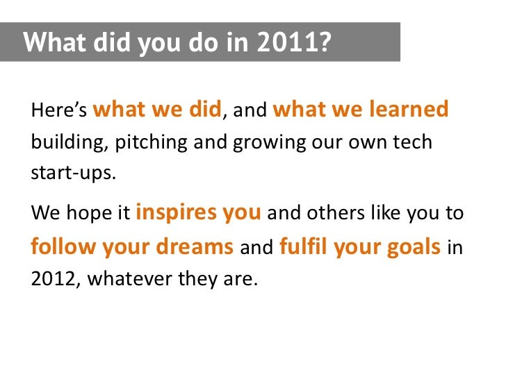 Startup Now: A Guide from the Seedcamp 2011 participants Slide 2