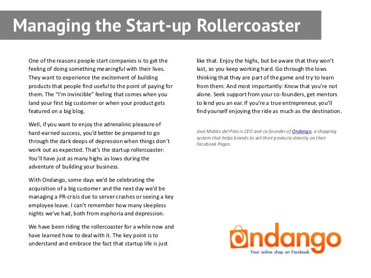 Managing the start up rollercoaster one fandeluxe Gallery