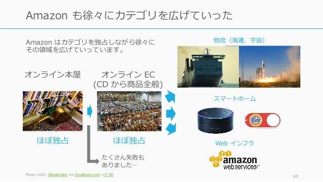 Amazon はカテゴリを独占しながら徐々に その領域を広げていっています。 Photo credit: Wonderlane via Visualhunt.com / CC BY 95 Amazon も徐々にカテゴリを広げていった オンライン...