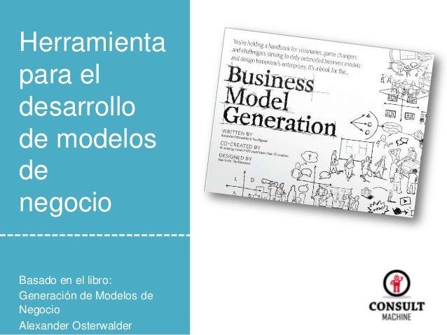 Herramienta para el desarrollo de modelos de negocio Basado en el libro: Generación de Modelos de Negocio Alexander Osterw...