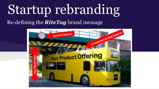 Startup rebranding Re-defining the RiteTag brand message