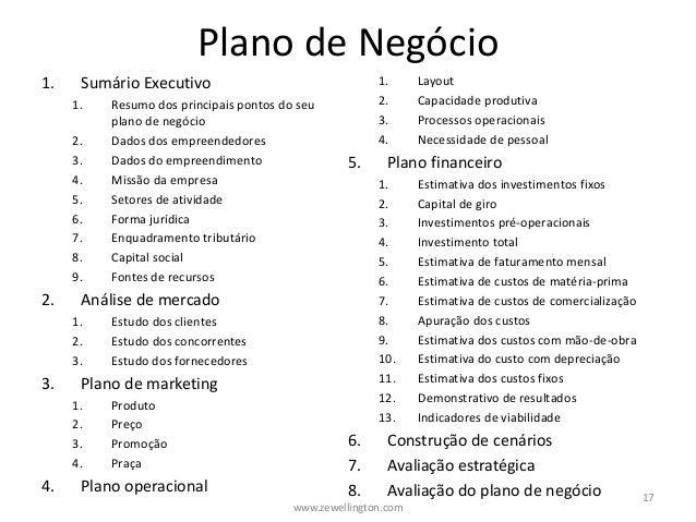 plano de negócio pronto