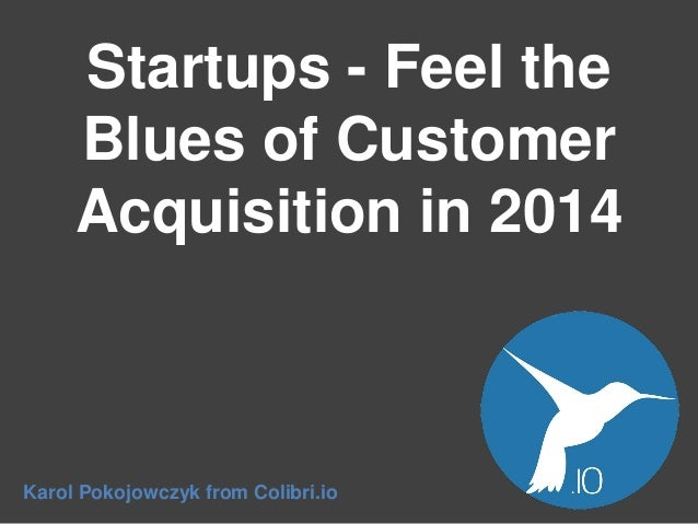 Startups - Feel the Blues of Customer Acquisition in 2014 Karol Pokojowczyk from Colibri.io