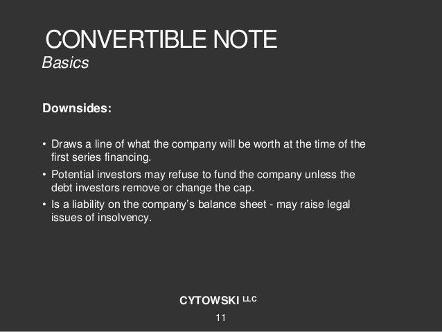 Coupon convertible note