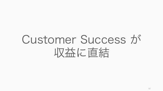 52 Customer Success が 収益に直結