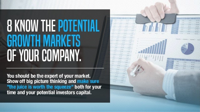 8Knowthepotential growthmarkets ofyourcompany. You should be the expert of your market. Show off big picture thinking and ...