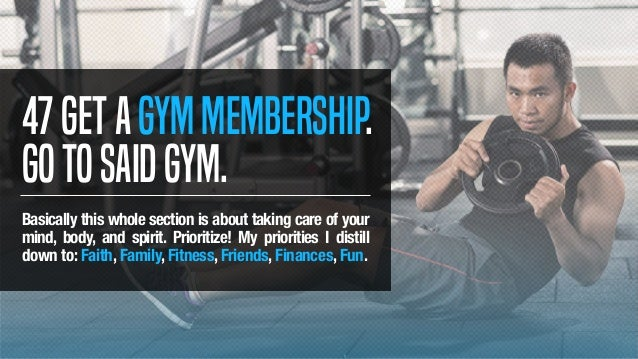 47Getagymmembership. Gotosaidgym. Basically this whole section is about taking care of your mind, body, and spirit. Priori...