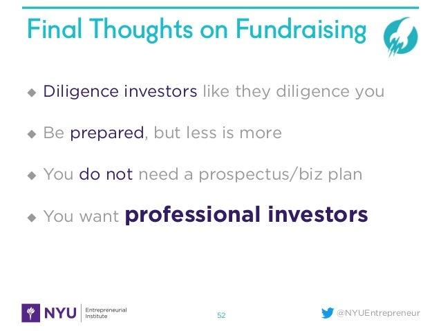 NYU Startup School - When & How to Raise Venture Capital - 웹