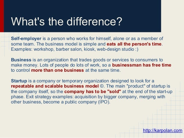 What is startup and what is not a start-up Slide 2