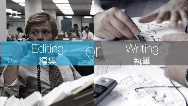 あ 58 あ Editing 編集 Writing 執筆 or