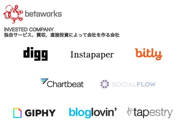 INVESTED COMPANY 独自サービス、買収、直接投資によって会社を作る会社