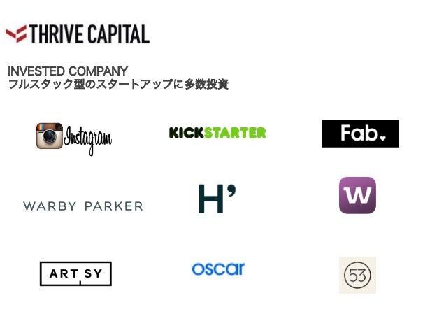 INVESTED COMPANY フルスタック型のスタートアップに多数投資