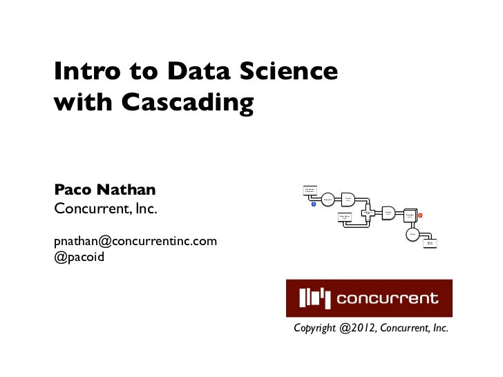 Intro to Data Sciencewith CascadingPaco Nathan                   Document                              Collection         ...