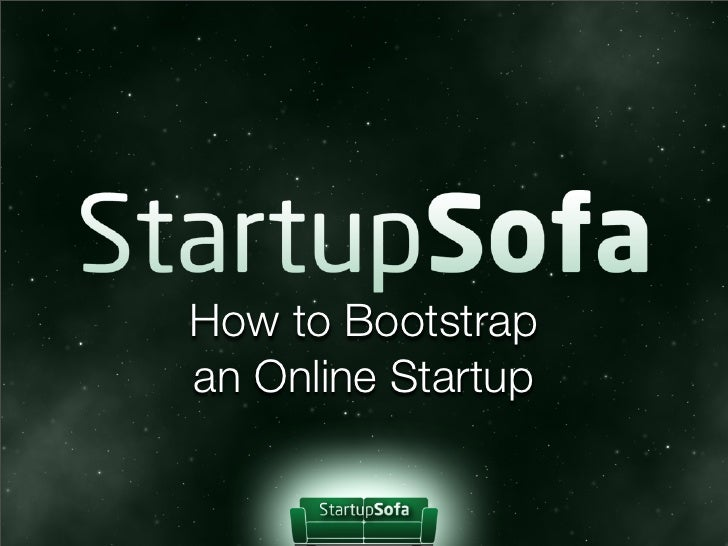 How to Bootstrapan Online Startup