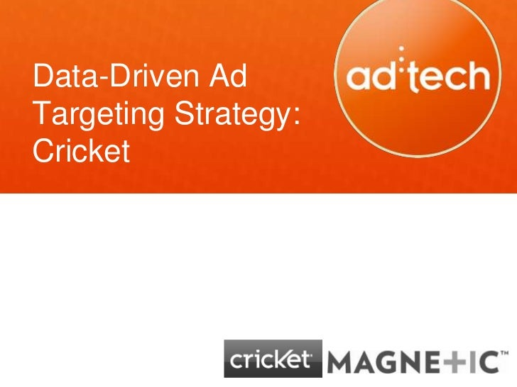 Data-Driven AdTargeting Strategy:Cricket