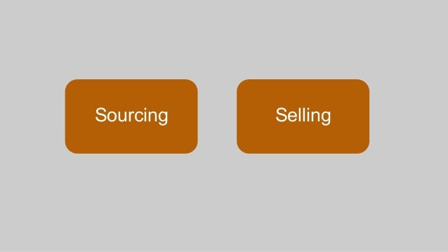 Sourcing Selling