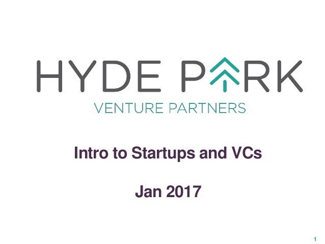 1 Intro to Startups and VCs Jan 2017
